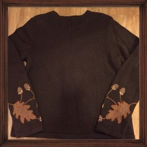 Vintage Sweaters - Vintage Halloween /Thanksgiving Leaves Sweater